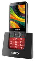 Mobilní telefon Aligator A900 GPS Senior, červený