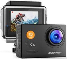 Apeman Odolná digitální kamera A79, 4K Ultra HD, vodotěsné pouzdro do 40 m