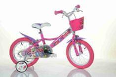 Bimbobike GIRL BUTTERFLY 77336 růžovo-bílé MTB 14''