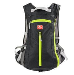 cyklistický batoh 15l s úchytem helmy - černý Nejprodávanější