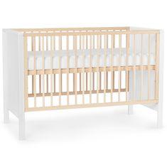Postýlka KinderKraft Baby wooden cot MIA guardrail
