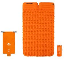 Naturehike nafukovací dvojitá karimatka FC-13 1000g - oranžová