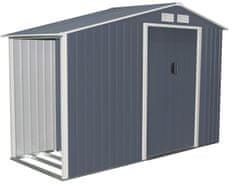 Rojaplast zahradní domek LUKE A domek 195×278×127 cm, šedá - Perfektní hodnocení