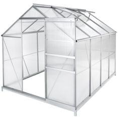tectake Polykarbonátový skleník s pozinkovanou základnou - 250 x 185 x 195 cm Nejprodávanější