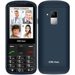 CPA mobilní telefon Halo 18 Senior s nabíjecím stojánkem modrý (TELMY1018BL)