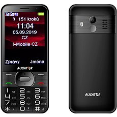 ALIGATOR A900 GPS Senior černý