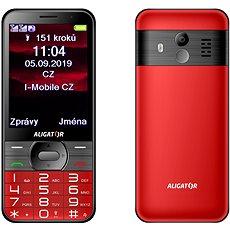 ALIGATOR mobilní telefon A900 GPS Senior červený