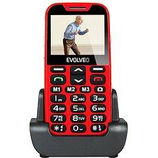 EVOLVEO mobilní telefon EasyPhone XD červeno-stříbrný