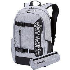 Meatfly Basejumper 6 Backpack, Heather Grey