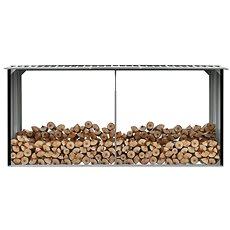 Zahradní kůlna na dříví pozinkovaná ocel 330x92x153 cm antracit