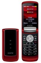 Tlačítkový mobilní telefon telefon Aligator DV800, červená