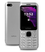 Tlačítkový mobilní telefon telefon myPhone Maestro, stříbrná